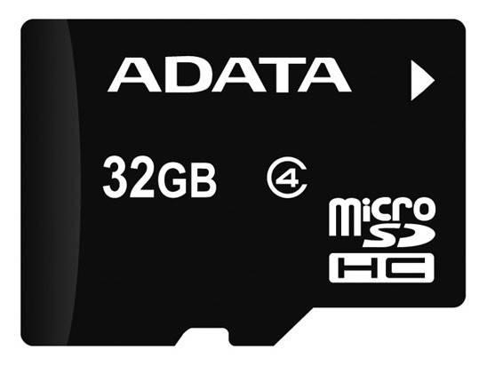Карта памяти microSDHC 32Gb Class4 A-Data AUSDH32GCL4-RA1 - фото 1