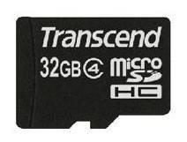 Карта памяти microSDHC 32Gb Class4 Transcend TS32GUSDC4