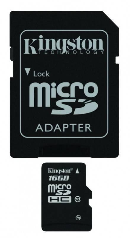 Карта памяти microSDHC 16Gb Class10 Kingston SDC10/16Gb - фото 1
