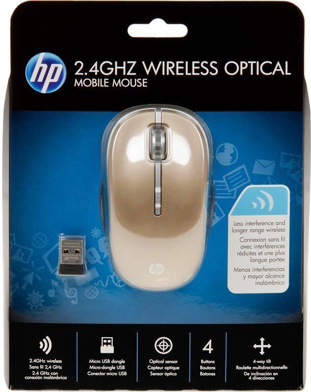 Мышь HP LP336AA золотистый - фото 1