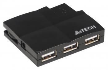 Разветвитель USB 2.0 A4 HUB-57 черный