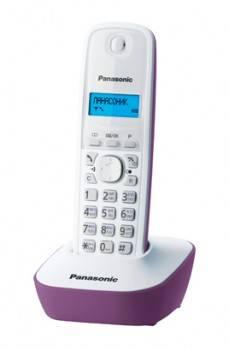 Телефон Panasonic KX-TG1611RUF фиолетовый/белый