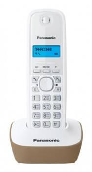 Телефон Panasonic KX-TG1611RUJ бежевый/белый