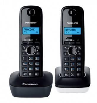 Телефон Panasonic KX-TG1612RU1 темно-серый / белый
