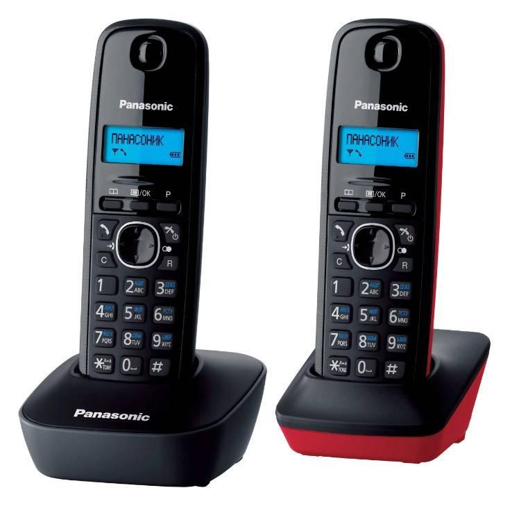 Телефон Panasonic KX-TG1612RU3 темно-серый/красный - фото 2