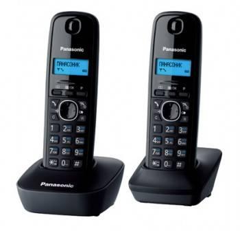 Телефон Panasonic KX-TG1612RUH темно-серый