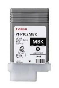 Картридж струйный Canon PFI-102MBK 0894B001 черный матовый - фото 1