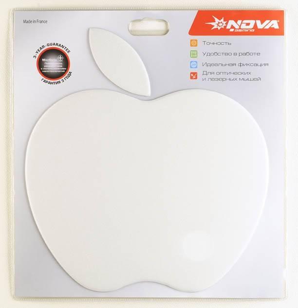 Коврик для мыши Nova Apple pad белый - фото 3