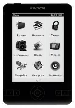 Электронная книга 5 Digma E501 черный