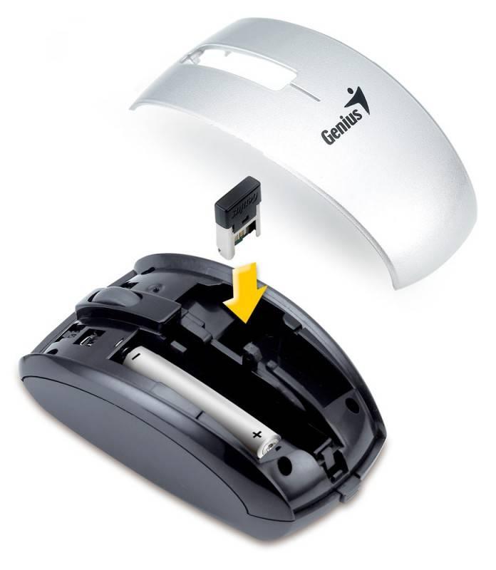 Мышь Genius ScrollToo 901 серебристый - фото 5