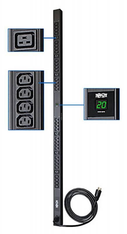 Модуль Tripplite PDUMV20HV 208/230V 20A (32)C13 C19 L6-20P input plug - фото 1