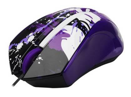 Мышь G-Cube Paint Splash GLPS-310V фиолетовый/рисунок - фото 2