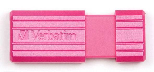 Флеш диск 8Gb Verbatim PinStripe 47397 USB2.0 розовый - фото 3