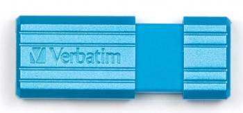 Флеш диск 8Gb Verbatim PinStripe 47398 USB2.0 голубой