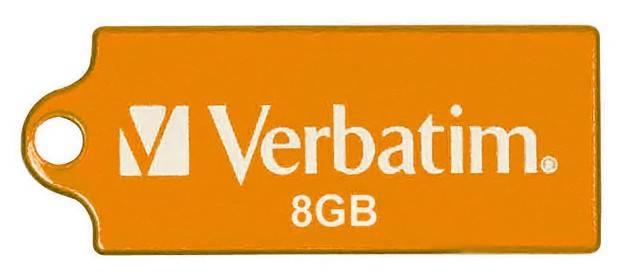 Флеш диск 8Gb Verbatim Micro 47426 USB2.0 оранжевый - фото 1