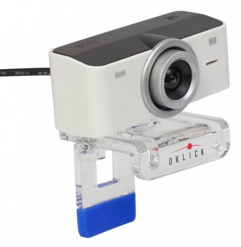 Камера Web Oklick LC-120M белый - фото 1