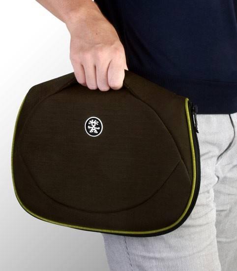 """Сумка для ноутбука 7"""" Crumpler The Mullet темно-коричневый/зеленый - фото 3"""