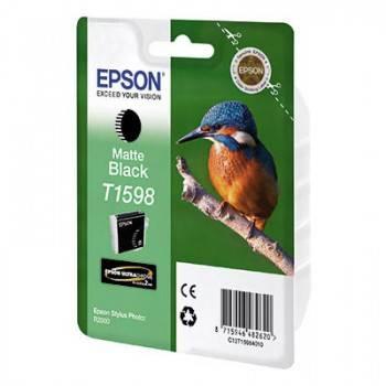 Картридж Epson T1598 черный матовый (C13T15984010)