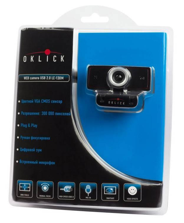Веб-камера Oklick LC-130M черный - фото 4