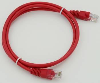 Сетевое оборудование Patchcord molded 5E Copper 1m Red