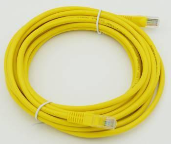 Сетевое оборудование Patchcord molded 5E Copper 5m yellow
