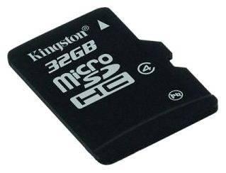 Карта памяти microSDHC 32Gb Class4 Kingston (SDC4/32GBSP)