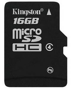 Карта памяти microSDHC 16Gb Class4 Kingston SDC4 / 16GBSP