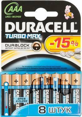 Батарея AAA Duracell Turbo MAX LR03-8BL (8шт)
