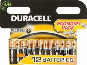 Батарея AAA Duracell Basic LR03-12BL (12шт)