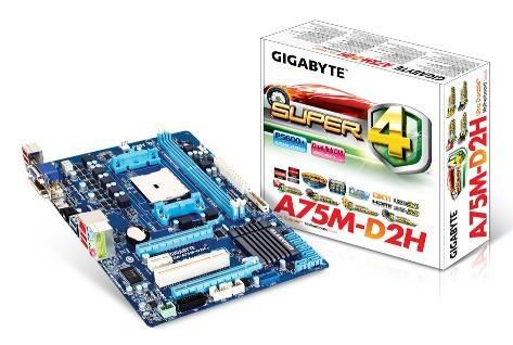 Материнская плата Soc-FM1 Gigabyte GA-A75M-D2H mATX - фото 3