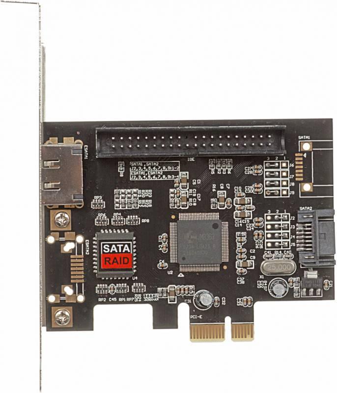 Контроллер PCI-E JMB363 1xE-SATA 1xSATA 1xIDE - фото 1