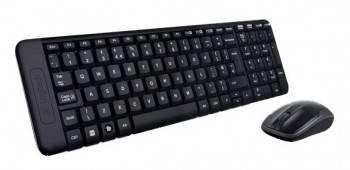 Комплект клавиатура+мышь Logitech MK220 черный / черный