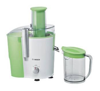 Соковыжималка центробежная Bosch MES20G0 белый/зеленый - фото 1