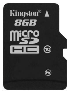Карта памяти microSDHC 8Gb Class10 Kingston SDC10 / 8GBSP
