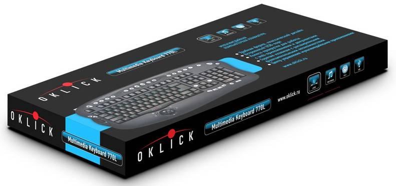 Клавиатура Oklick 770L черный - фото 2