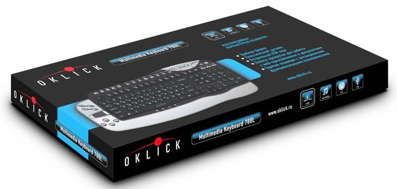 Клавиатура Oklick 780L серебристый/черный - фото 2