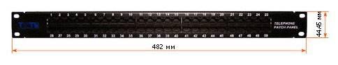 "Патч-панель Lanmaster TWT-PP50TEL45 19"" 1U 50xRJ45 - фото 2"
