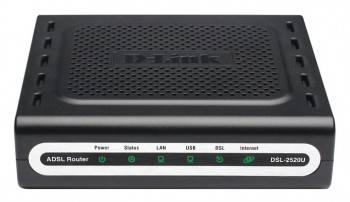 Маршрутизатор D-Link DSL-2520U / BA / D4A (DSL-2540U / BRU / T1)