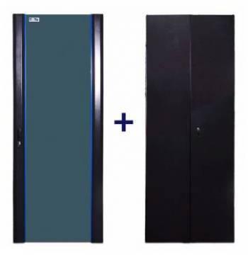Комплект дверей Lanmaster TWT-CBB-DR42-6X-S-G1 (упак.:2шт)