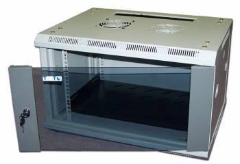 Шкаф коммутационный Lanmaster Pro TWT-CBW2-15U-6X4 15U серый