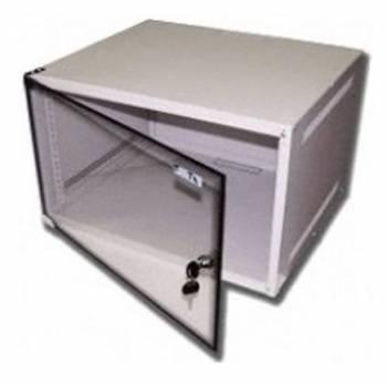 Шкаф коммутационный Lanmaster Lite TWT-CBWL-6U-6X4 6U серый