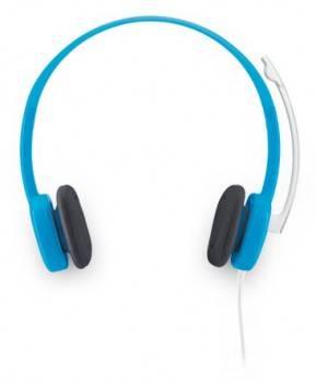 Наушники с микрофоном Logitech Stereo Headset H150 голубой