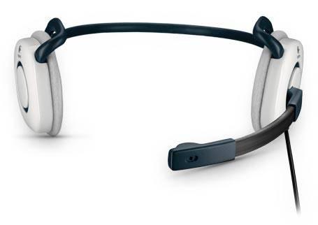 Наушники с микрофоном Logitech Stereo Headset H130 белый - фото 1