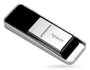 Флеш диск 8Gb Apacer Handy Steno AH521 USB2.0 серебристый / черный