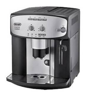 Кофемашина Delonghi Caffe Corso ESAM 2800.SB серебристый/черный (ESAM2800)