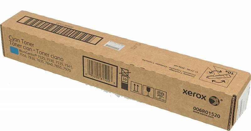 Тонер Картридж Xerox 006R01520 голубой - фото 1