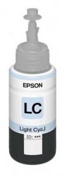 Картридж струйный Epson T6735 C13T67354A светло-голубой