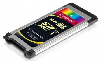 Картридер ExpressCard Transcend TS-RDF1 серебристый