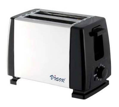 Тостер Vigor HX-6019 серебристый/черный - фото 1