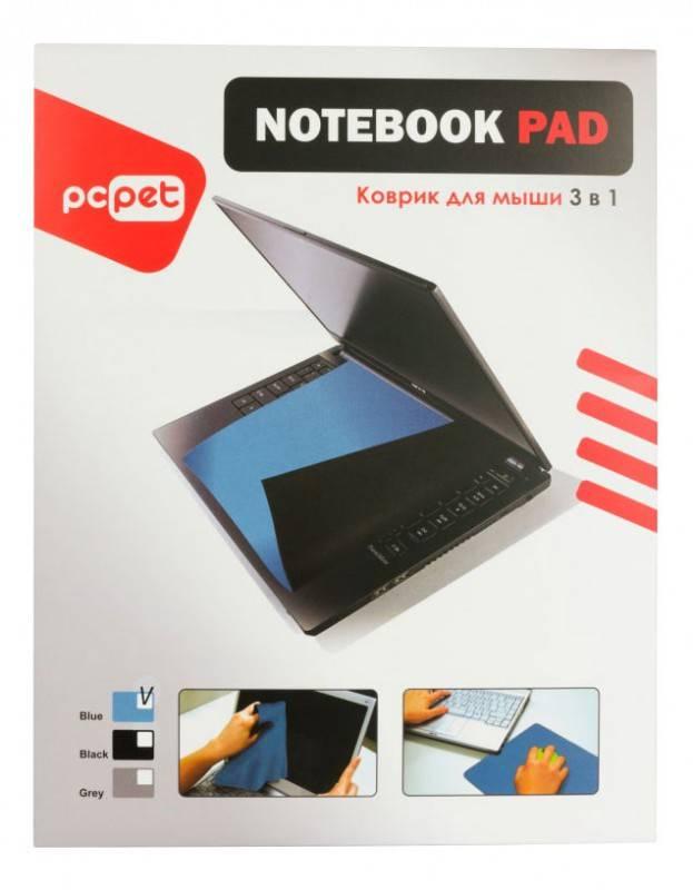 Коврик для мыши PC Pet HC01 3-in-1 голубой - фото 3